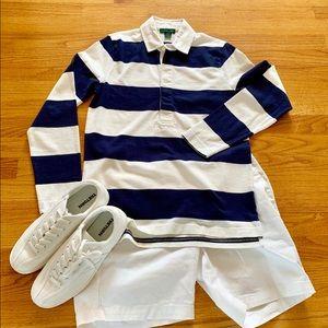 J. Crew Women's 1984 rugby shirt in stripe